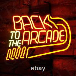 17x14Back to the Arcade Neon Sign Light Beer Bar Pub Game Room Wall Hanging