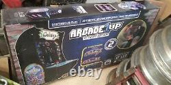 1up galaga arcade machine, retro, video game, 80's, game room, flashback, joystick