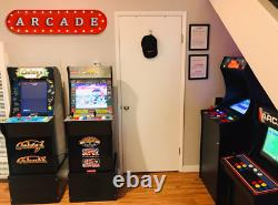 39 ARCADE Game Room Play Pinball Vintage Rustic Metal Marquee Light Up Sign