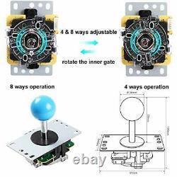 4-Player LED DIY Arcade Kit 4X Zero Delay LED USB Encoder + 4X 4/8 Way