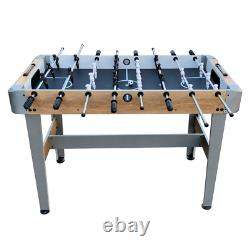 48 Foosball Table Wooden Soccer Table Arcade Style Game Room Ball Return System