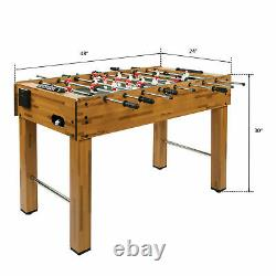 48in Competition Sized Foosball Table Arcade Table Soccer for Game Room with 2Ball