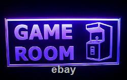 ARCADE LED Neon Sign Light Game Room Man Cave Flashing Multi-Color Large 20 New