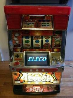 AZTECA Pachislo Slot Machine with Tokens! Man cave Game room Arcade Machine