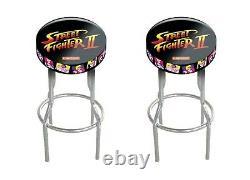 Arcade 1up Game Room Custom Stool Play Seat 2 Pack Gameplay Adjustable Stools