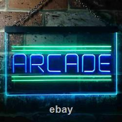 Arcade Game Zone Room Dual Color LED Neon Sign st6-i3368
