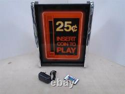 Arcade Insert Coin to play Game/Rec Room LED Display light box sign