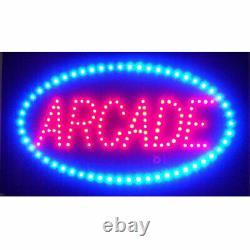 Arcade LED wall or window BRIGHT sign lamp light Game Rec room Pinball opti neon