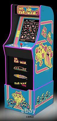 Arcade Machine Ms Pacman With Riser Home Family Video Game Room Fun Play