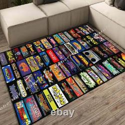 Arcade Marquee Game rug, Game Collections, Game Room Floor Carpet Decor