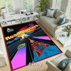 Arcade RoadBlasters Atari Retro game Area Rug Game Room Decorative Floor Rug