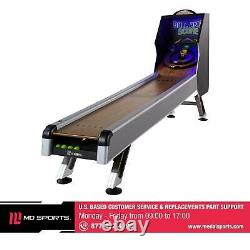 Arcade Skeeball 10' Game Room Table With LED Scorer, Lights, Real Sound Effects