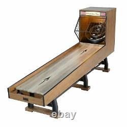 Arcade Skeeball 10' Game Room Table with LED Scorer, Lights, and Sound Effects