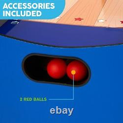 Arcade Skeeball 7' Game Room Table with LED Scorer, Lights, and Sound Effects