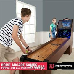 Arcade Skeeball 9 Game Room Table with LED Scorer, Lights, and Sound Effects