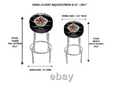 Arcade1Up Final Fight Adjustable Stool Bar Stool Round Padded Seat Room Gaming
