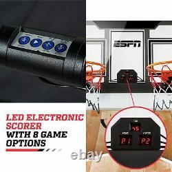 Basketball Arcade Set 2-Player LED Scoring Indoor Game Room Kids Play Folding