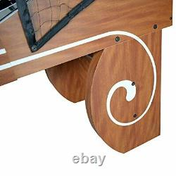 Boardwalk 8-ft Arcade Ball Table for Family Game Rooms with LED Track