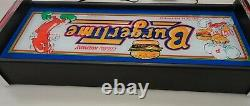 Burgertime Marquee Game/Rec Room LED Display light box
