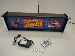Donkey Kong Jr Marquee Game/Rec Room LED Display light box