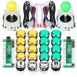 EG STARTS Arcade DIY Kit Parts USB Encoder to PC Games 8 Way Joystick + 20x 5
