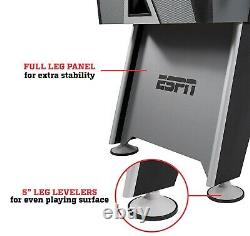 ESPN 56 Foosball Table Arcade Size Family Game Room LED Lights & Cover