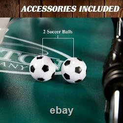 Foosball Table Soccer Football Arcade 4 Player Indoor Game Room 56 Black Brown