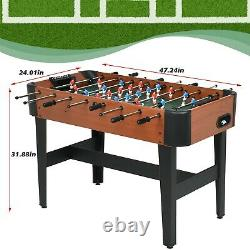 Foosball Table Soccer Football Arcade 4 Player Indoor Game Room Wood Casing NEW
