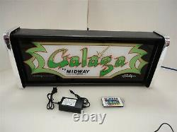 Galaga Marquee Game/Rec Room LED Display light box