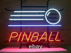 Game Room Pinball Game Arcade Neon Light Sign Lamp 17x14 Beer Glass