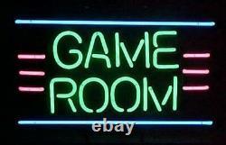 Game Room Video Arcade Neon Lamp Sign 17x14 Bar Light Glass Artwork
