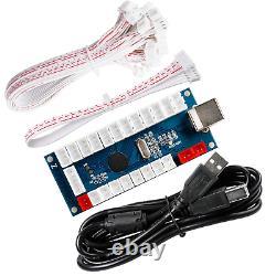 JUYEER 4-Player LED DIY Arcade Kit 4X Zero Delay LED USB Encoder + 4X 4/8 Way