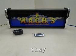 Mach 3 Marquee Game/Rec Room LED Display light box