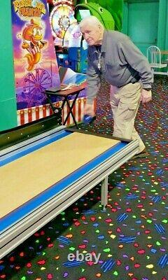 Mini Bowling lane by Ball Bowler has free fall pins for your game room arcade