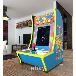 Ms. PAC-MAN Video 4 Games in 1 Arcade 1UP Fun Game Room Kids Children Party Play