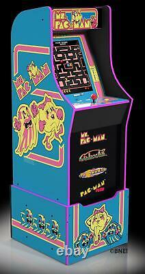 Ms Pacman Arcade Machine With Riser Must Haves Your Family Game Room Game Cave
