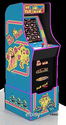 Ms Pacman Arcade Machine with Riser Authentic Experiences at Home Game Room