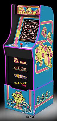 Ms Pacman Arcade Machine with Riser Retro Home Arcade Cabinet Game Room Play New