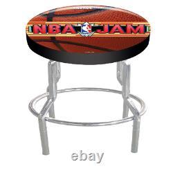 NBA Jam Arcade Game Stool Adjustable Height Foam Padded Seat Game Room Arcade