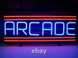 New Arcade Back To 50S Game Room Beer Pub Bar Neon Light Sign 17x14