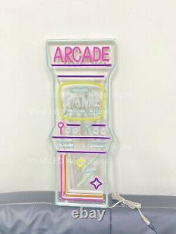 New Arcade Game Room 24 LED Neon Sign Light Lamp Super Bright Display Decor Bar