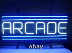 New Arcade Game Room Blue Neon Light Sign 24x12