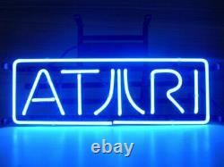 New Atari Arcade Video Game Room Wall Artwork Decor Bar Neon Light Sign 14x7