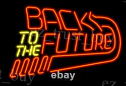 New Back To the Future Arcade Pinball Game Room Neon Sign 17x14