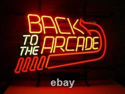 New Back to the Arcade Game Room Lamp Neon Light Sign 17x14