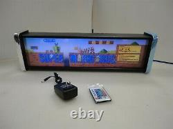 Nintendo Super Mario Brothers Marquee Game/Rec Room LED Display light box