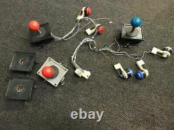 Original Wico 8-way 4in Stem Arcade 3 Joysticks 5 Buttons Robotron, X-Men, TMNT