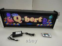 Qbert Marquee Game/Rec Room LED Display light box