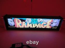 Rampage Marquee Game/Rec Room LED Display light box