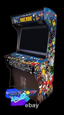 Rec Room World 43 CLASSIC UPRIGHT ARCADE HyperSpin MULTICADE 2 Player